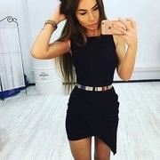 Платье черное под ремешок